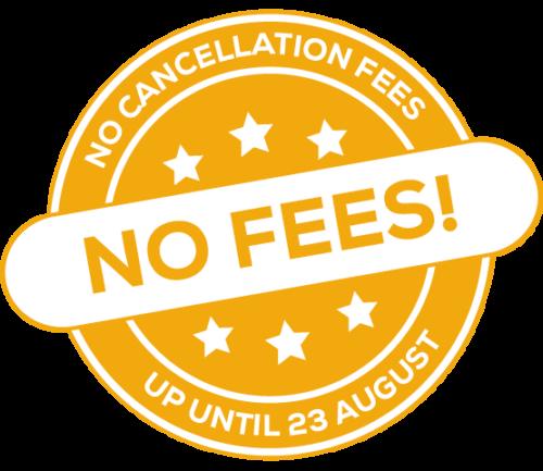 no cancellation fees