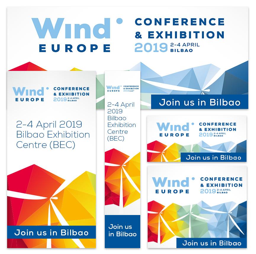 WindEurope 2019 Bilbao banners