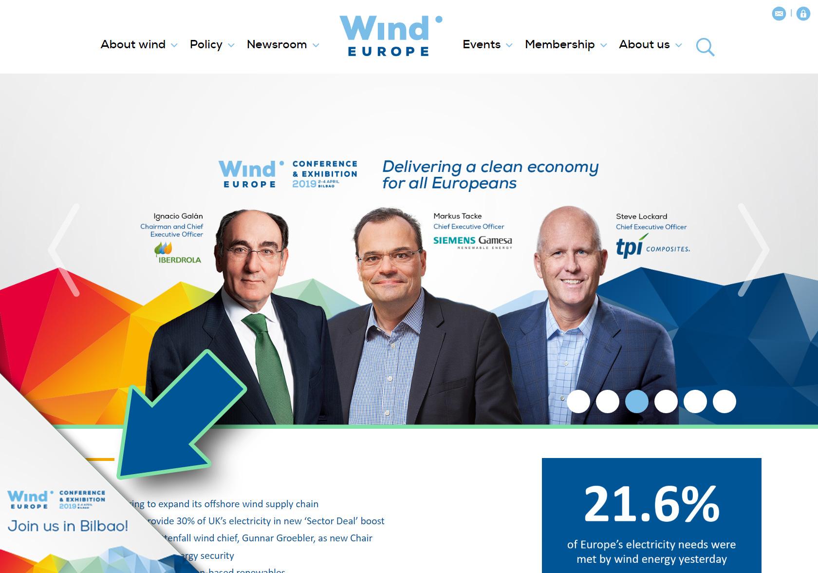 WindEurope 2019 Bilbao dogear